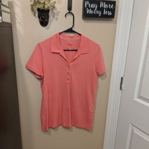 Banana Republic Pink Polo Button Shirt Size Large